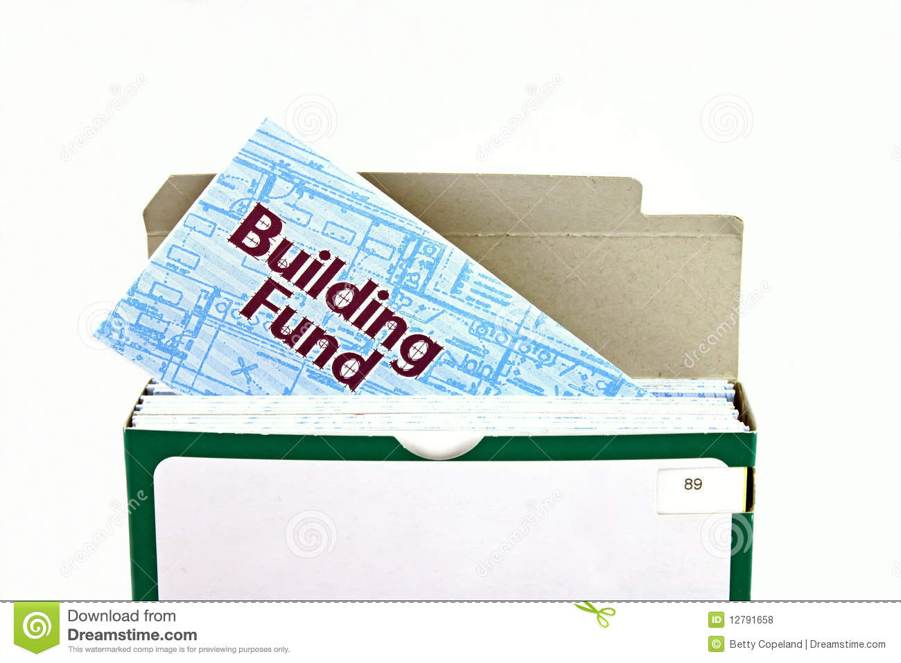 Building fund envelope stock photo. Image of deduction.