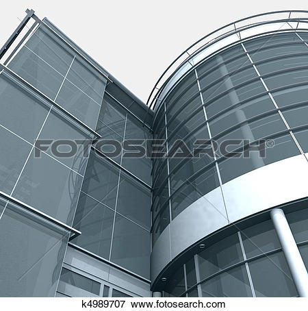 Stock Illustration of Building Glass Corner Entrance k4989707.