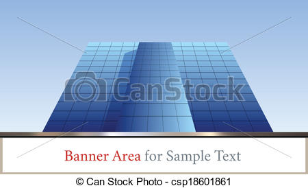Clip Art Vector of skyscraper against sky ; building glass.
