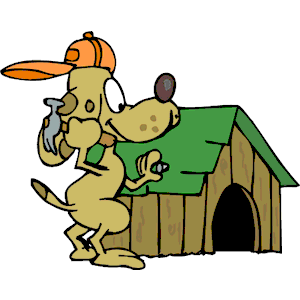 Dog Building House clipart, cliparts of Dog Building House free.