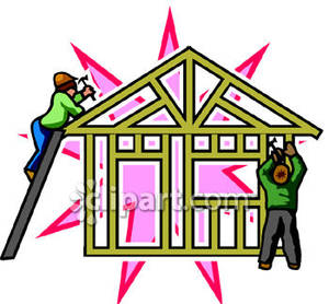 Build a house clipart.