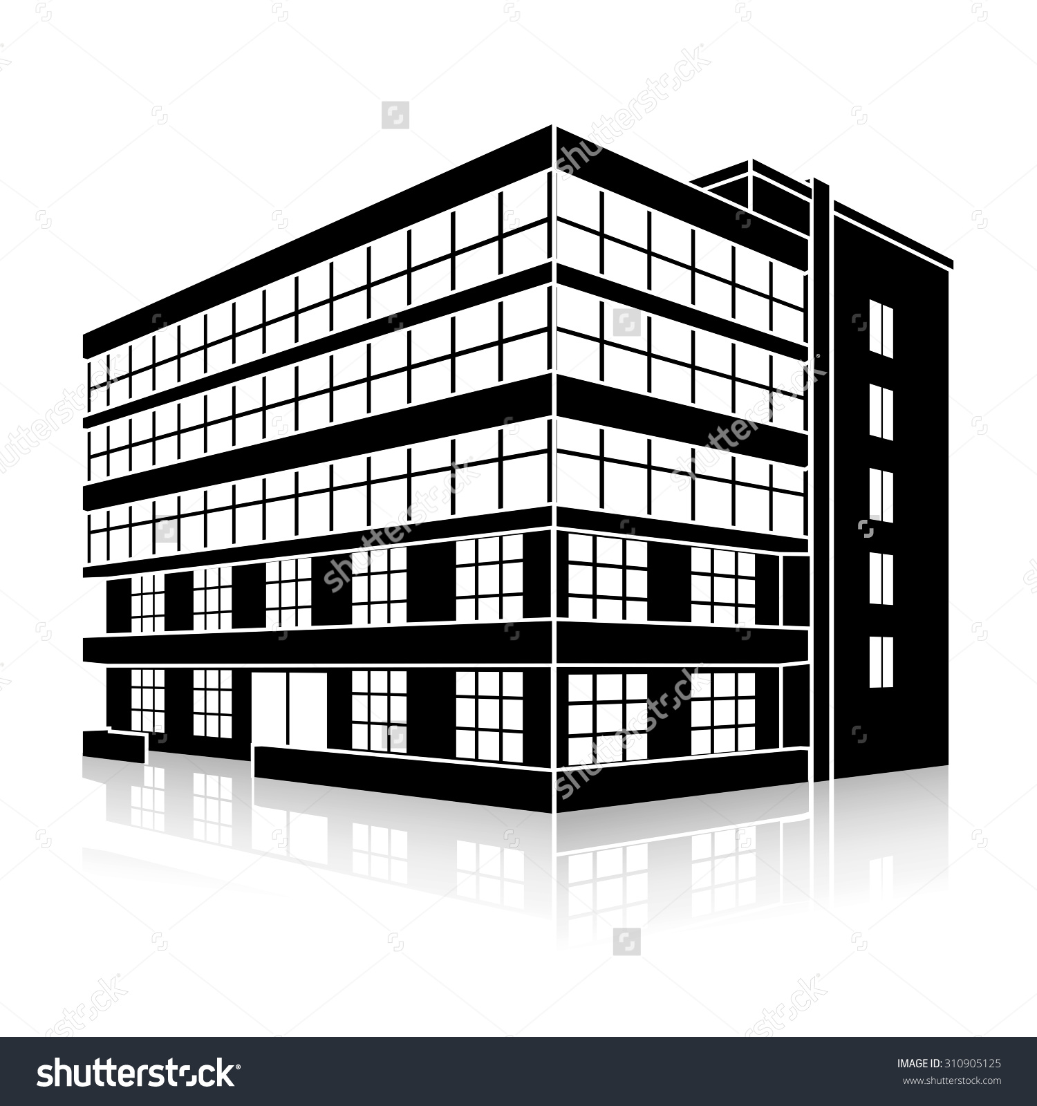 644 Office Building free clipart.