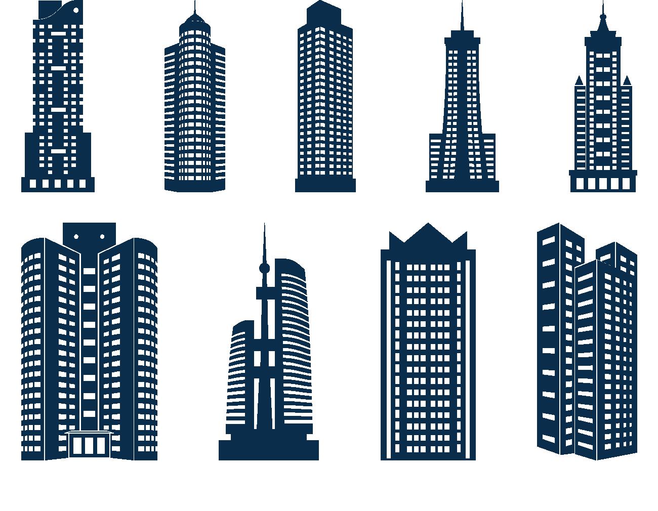Download Building Skyline Icon Skyscraper Skyscrapers PNG File HD HQ.