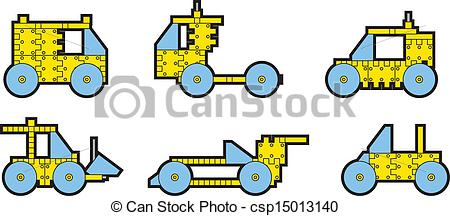 EPS Vector of meccano.