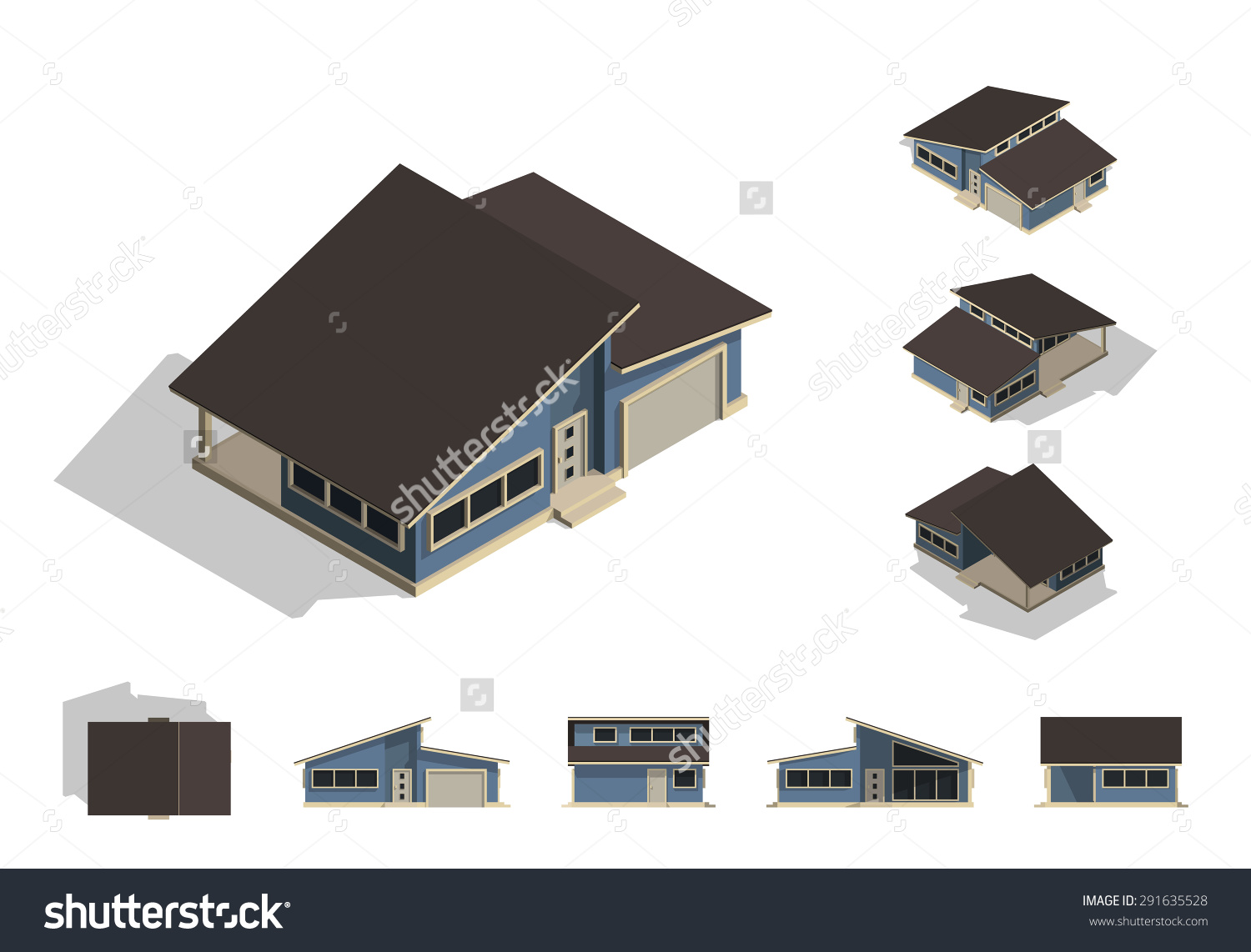Set Isolated House Building Kit Creation Stock Vector 291635528.