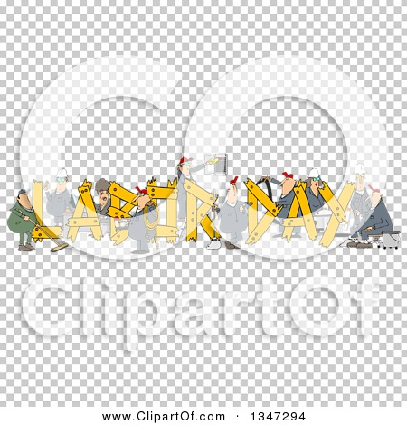 Clipart of Cartoon Chubby White Male and Female Workers Building.