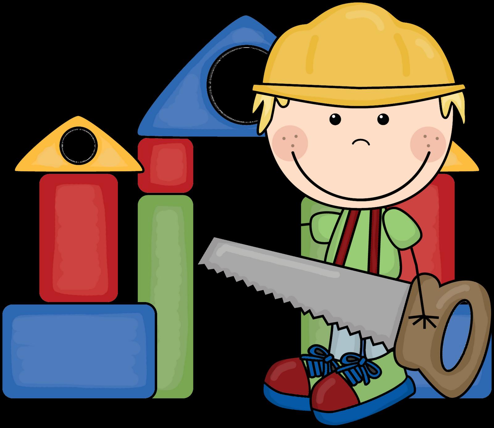 Kids building clipart.