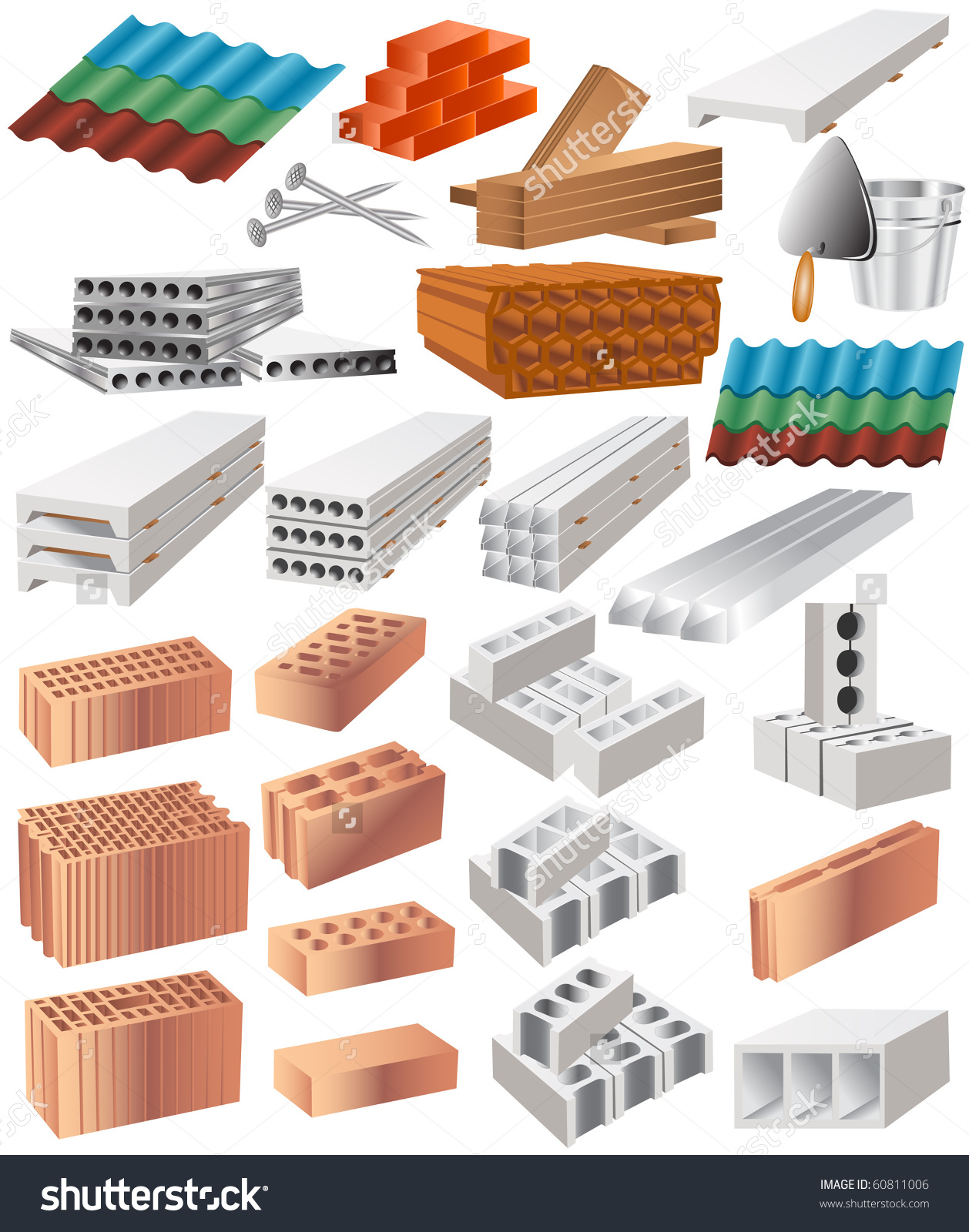 Building Material Stock Vector 60811006.