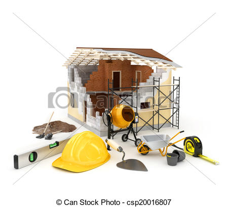 Stock Illustration of building materials.