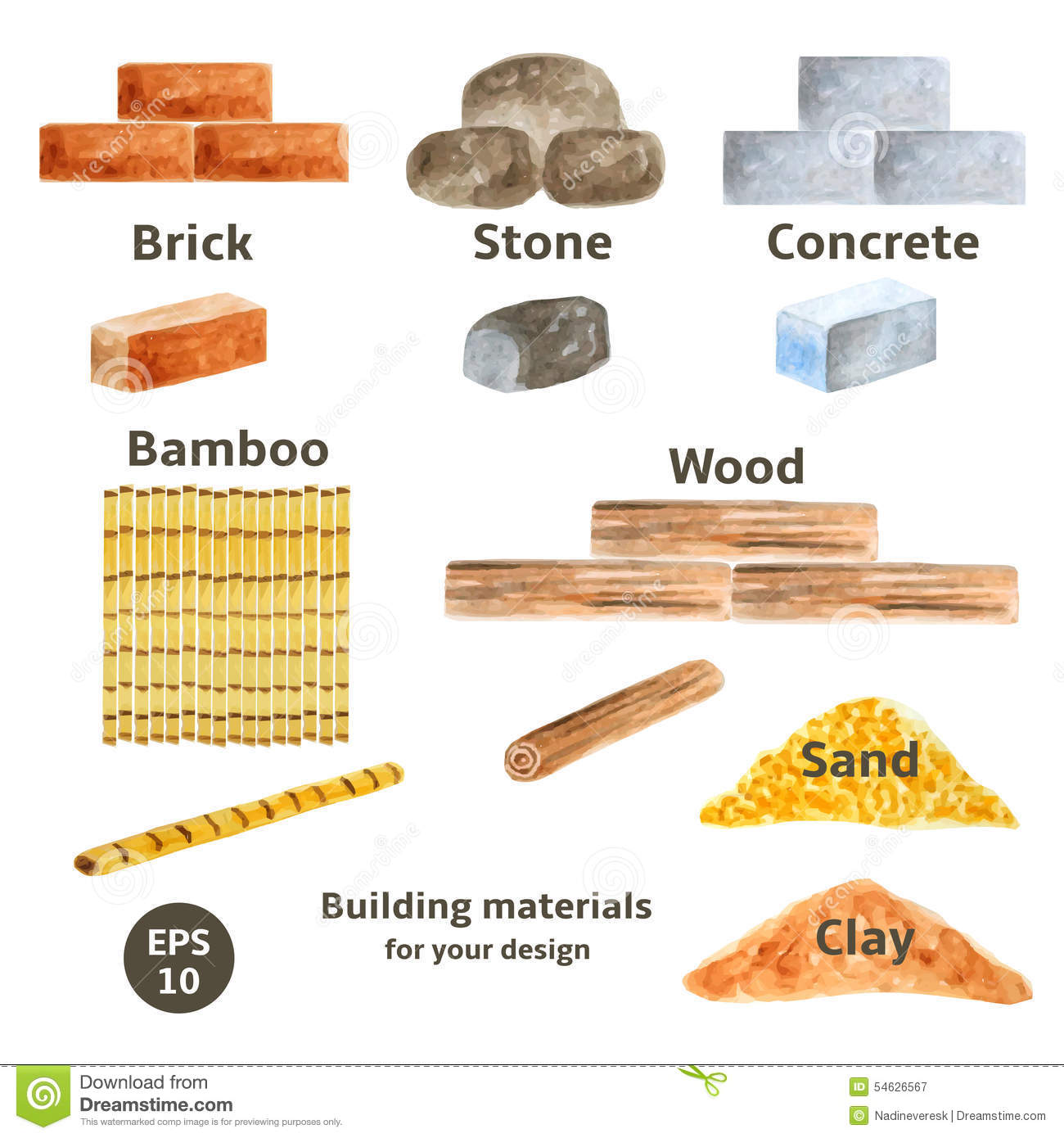 Building material clipart clipground for List of building materials for a house