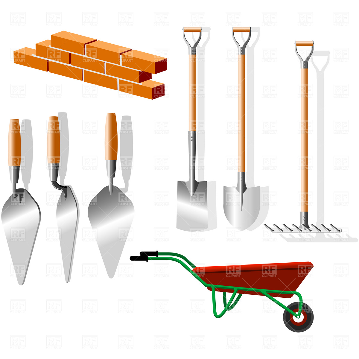 Building materials clipart png images for Materials needed to build a house
