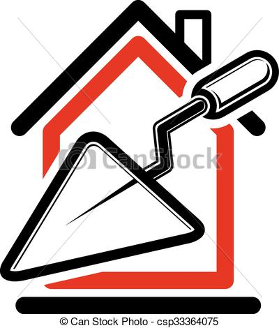 Vectors Illustration of Classic spatula icon, build materials.