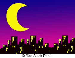 Clipart city night.