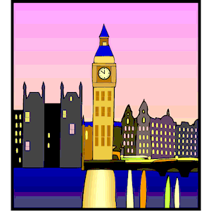 London at Night clipart, cliparts of London at Night free download.