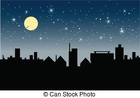 Vector Clip Art of Night.