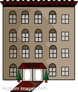 Clip Art of a High Rise Hotel Building.