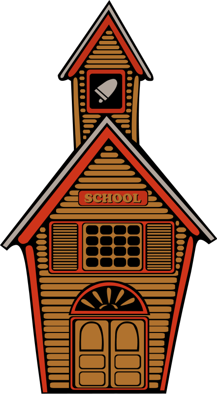 Old School Building Clipart.