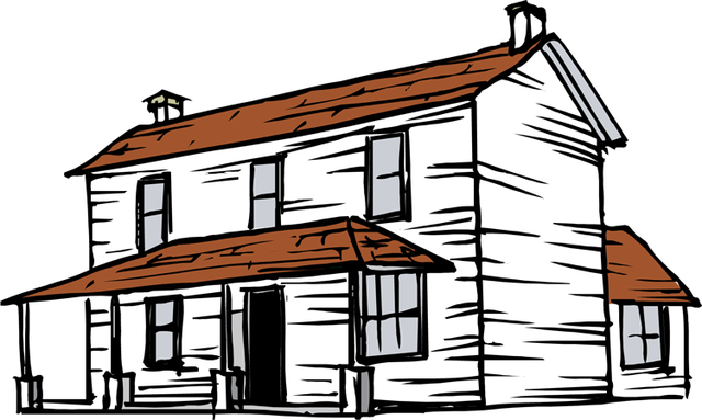 Old buildings clipart #14