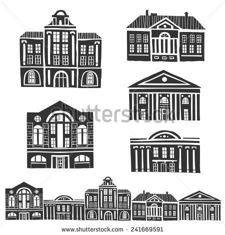 Building Antique Stock Vectors & Vector Clip Art.