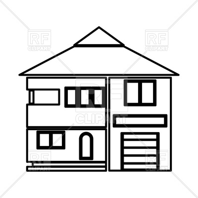House outline on white background.