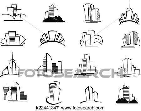 Building Outline Clipart & Free Clip Art Images #27821.