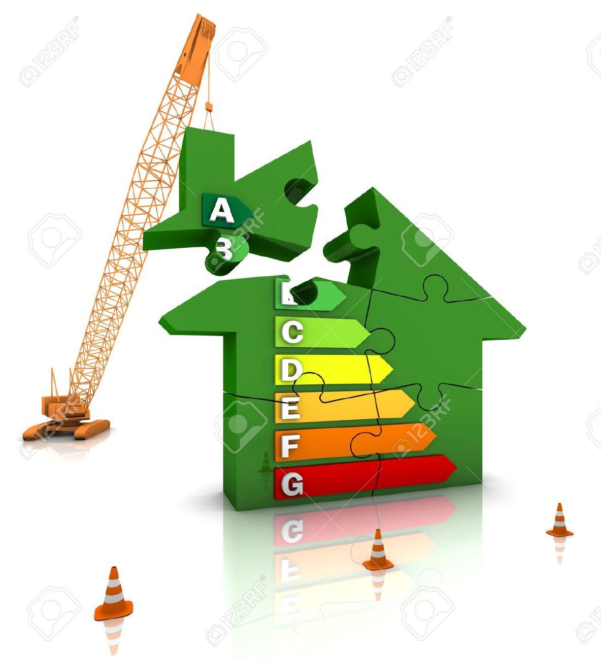 Construction Site Crane Building An Energy Efficient Home. Part.
