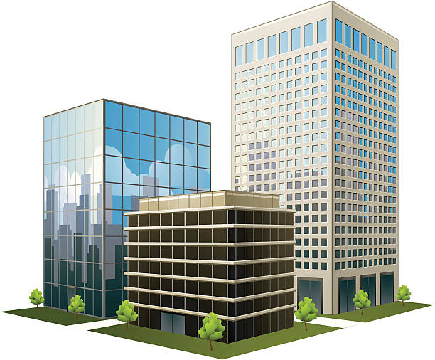 Best Office Building Illustrations, Royalty.