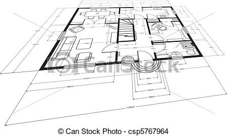 EPS Vector of building plans.