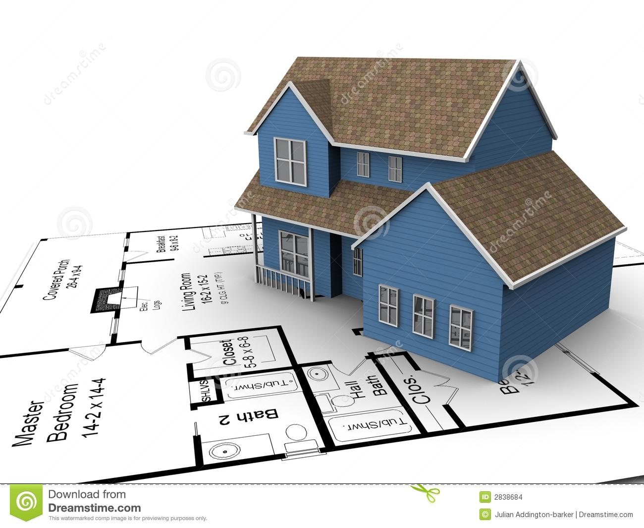 Building plans clipart.