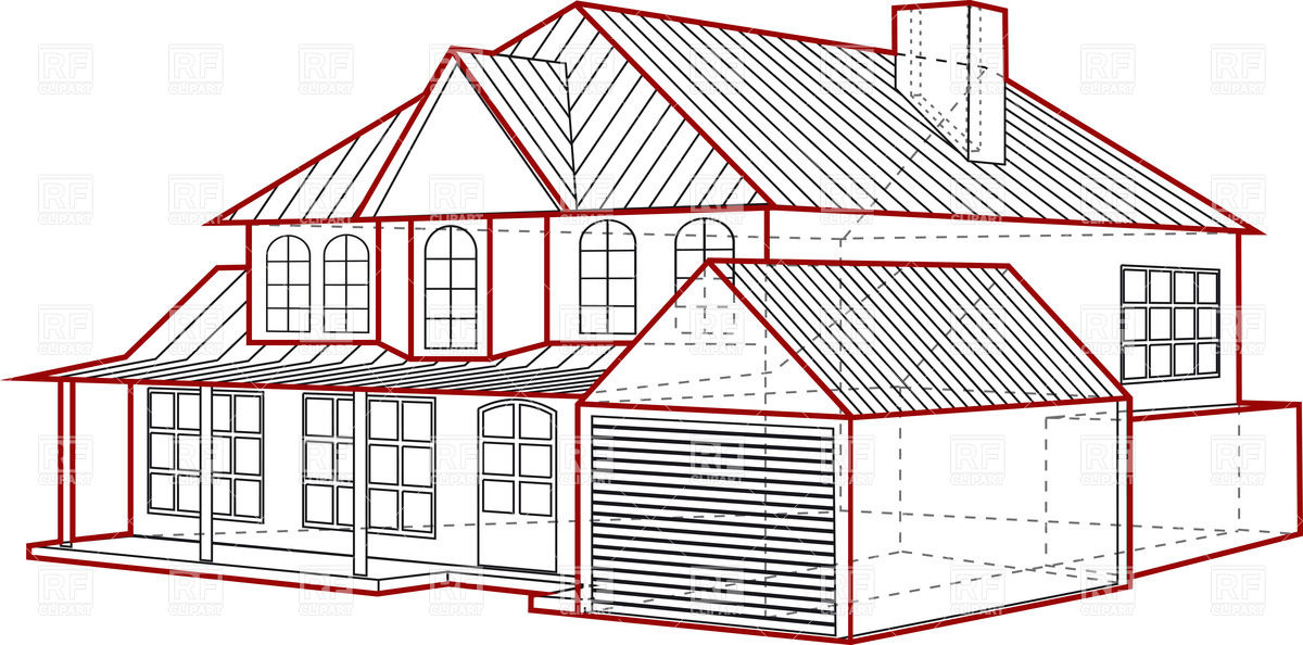 Building plan clipart clipground house plan clipart layout of country house plan of building with garage 36707 malvernweather Image collections