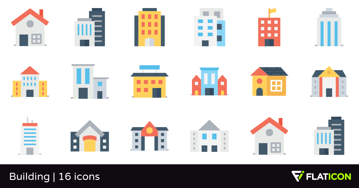Building 16 free icons (SVG, EPS, PSD, PNG files).
