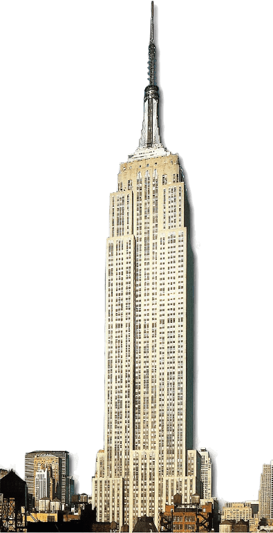 Empire State Building transparent PNG.