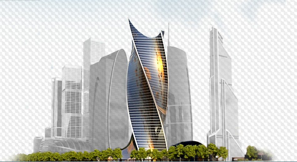Houses, buildings, city, PNG images on transparent background.