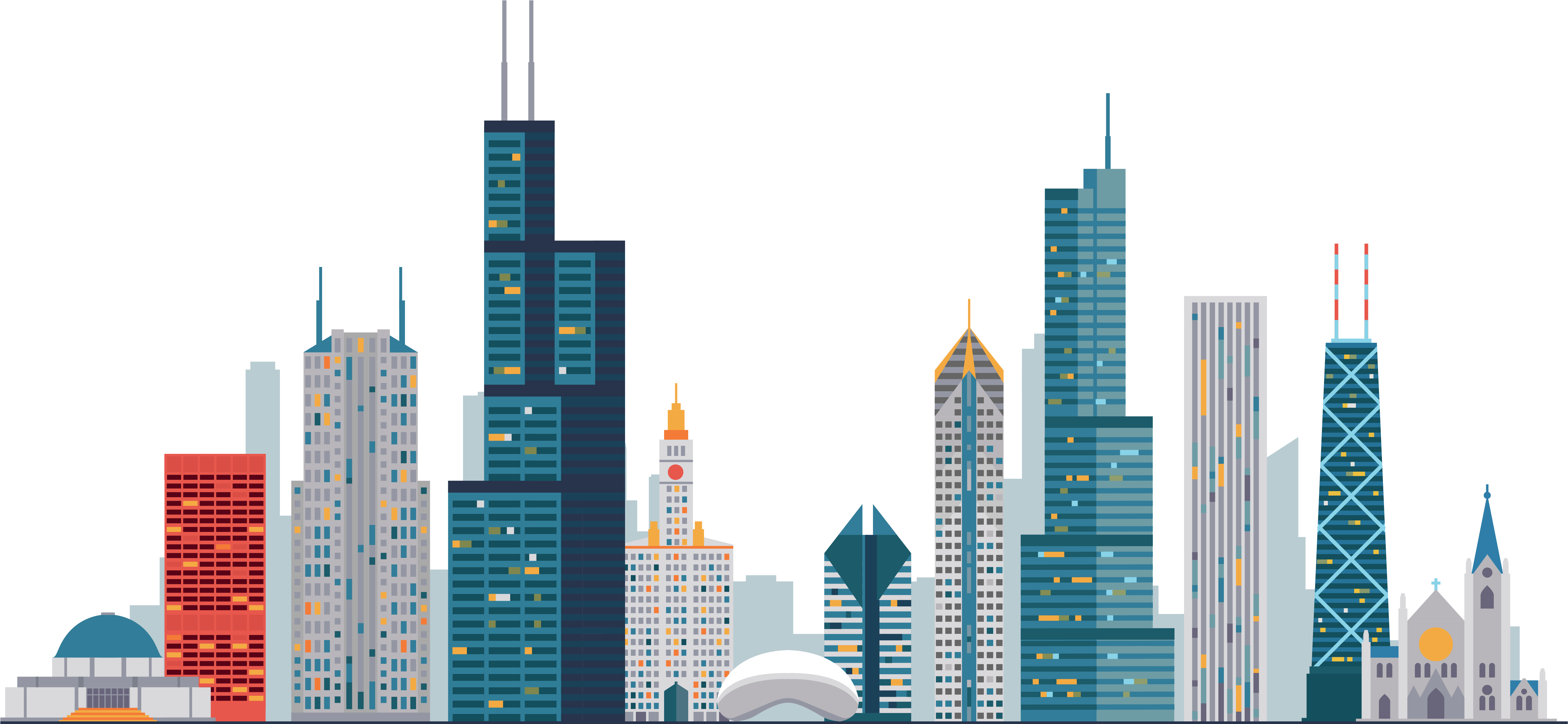 HD City Building Vector Png , Free Unlimited Download #3079098.