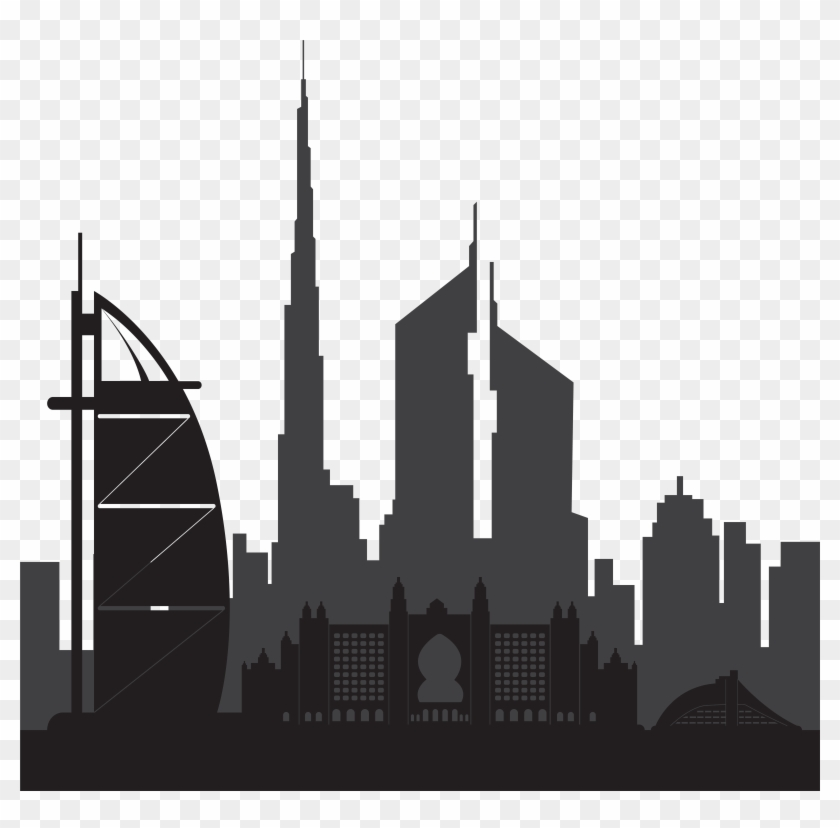Dubai Clipart Buildings, HD Png Download.