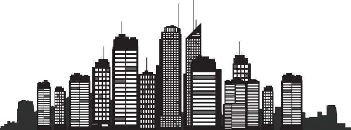 Silhouette Building Png Vector, Clipart, PSD.
