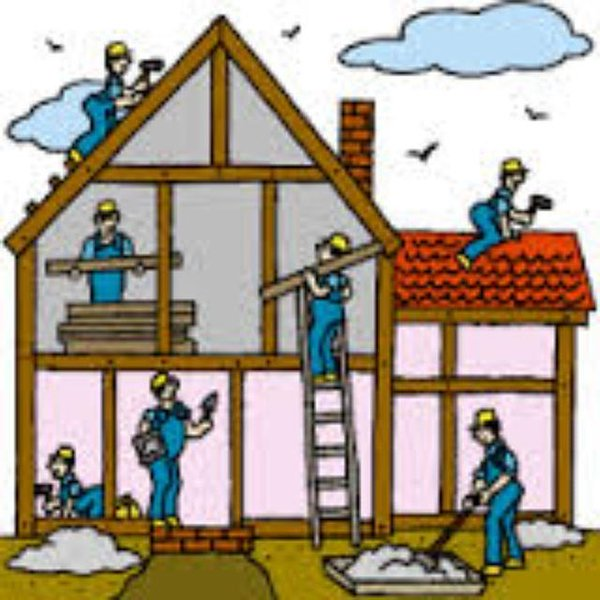 Building Being Built Clipart.
