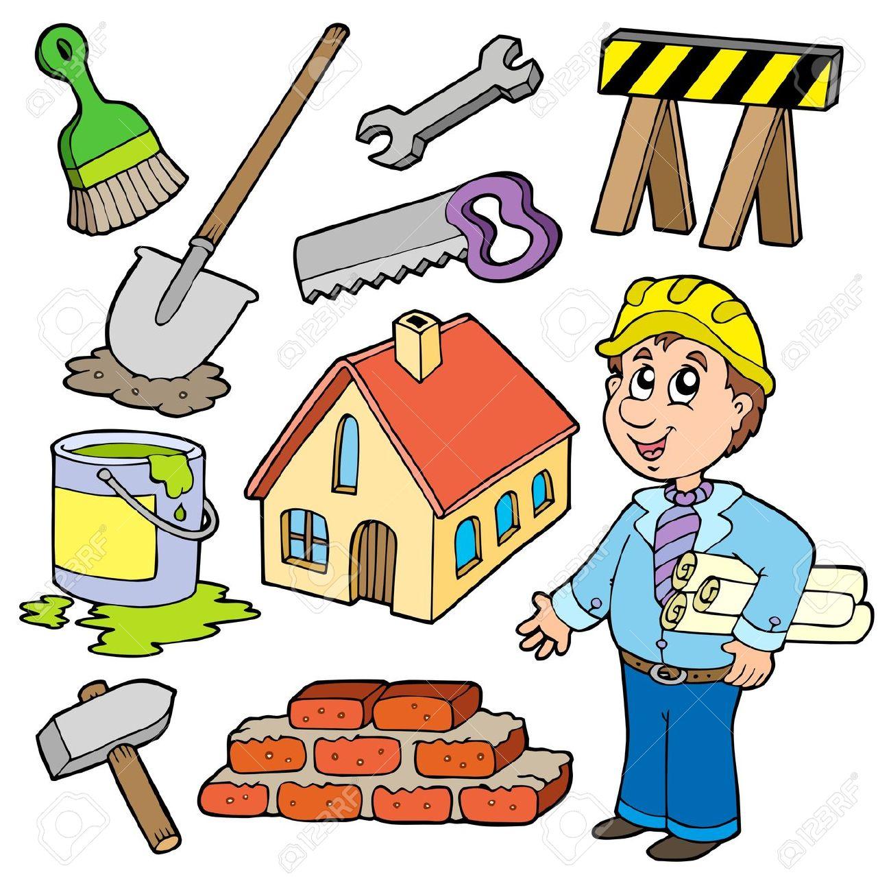 Building Renovations Clip Art.