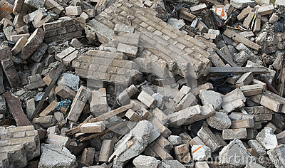 Demolition Rubble Stock Photography.