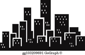 Buildings Silhouette Clip Art.