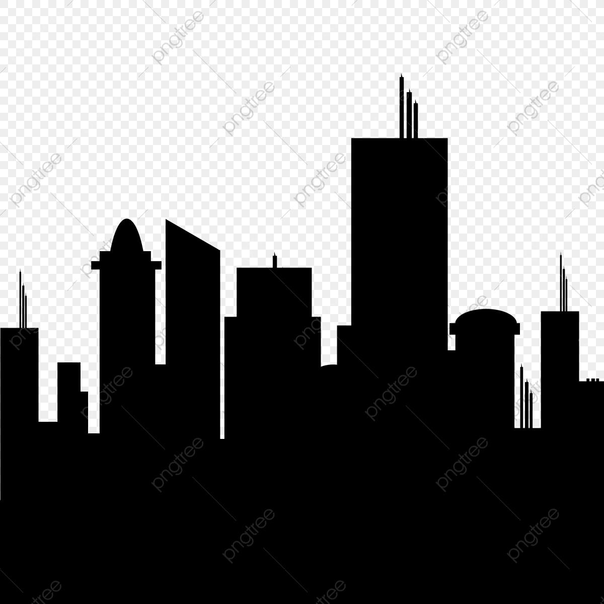 Buildings Silhouette, Buildings, Silhouette PNG Transparent Clipart.