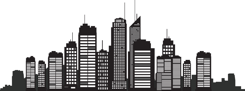 New York City Silhouette Skyline Cityscape.