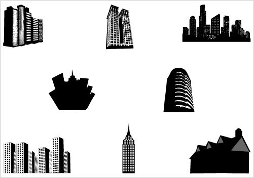 Image result for building silhouette clip art.