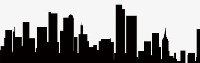 Silhouette Buildings, Buildings, Sketch, Black PNG Transparent Image.
