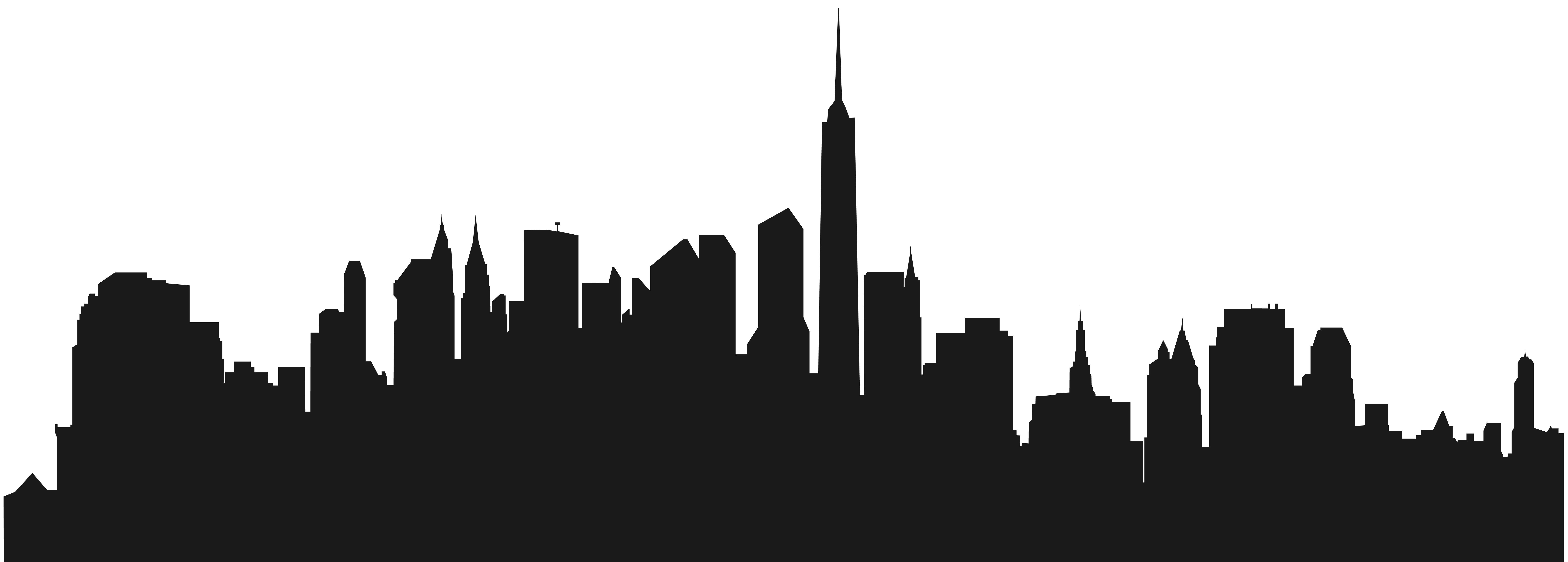 City Buildings Silhouette PNG Clip Art.