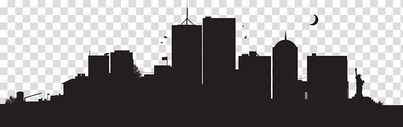 New York City Skyline , building silhouette transparent.