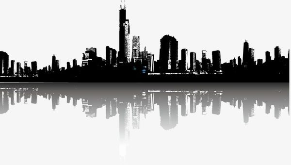 City Building, City Vector, Sketch, Building Silhouette Png And with.