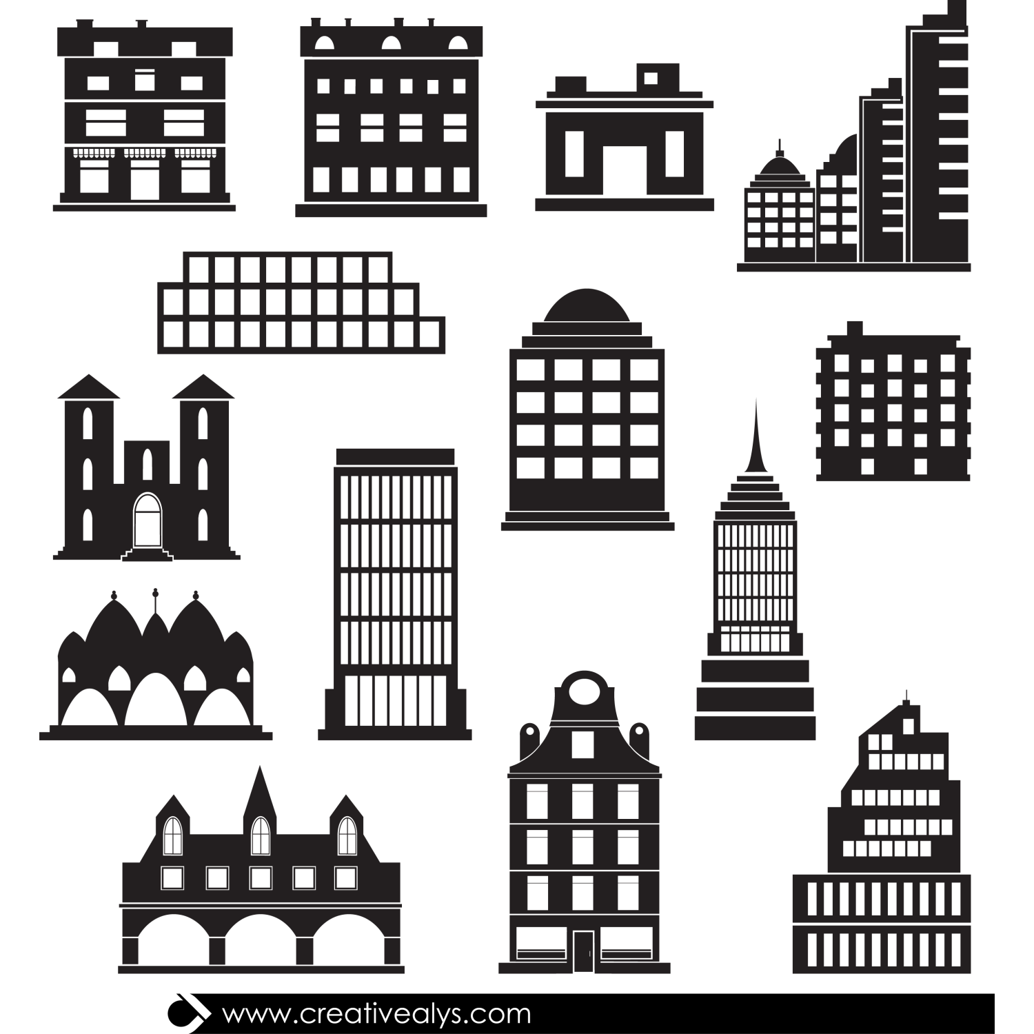 Building Vector Icon Png (+).