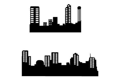 High Quality Building Silhouette Vector Free Download.