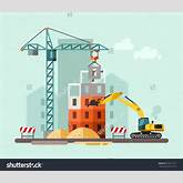Clip Art Building Construction.